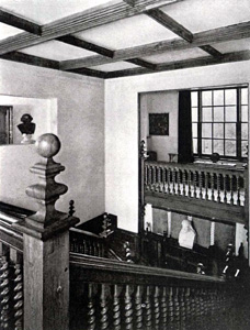 The main staircase in 1938 [HN2-Spen4/12]
